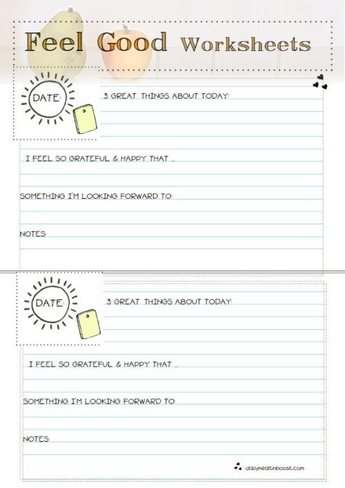 Feel Good Worksheets Color